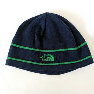 The North Face Beanie Logo Blue Green Medium Youth